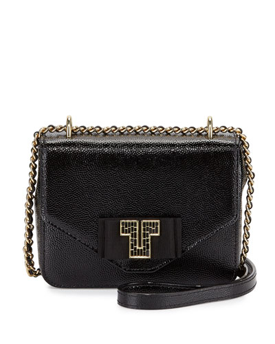 Kira Deco Chain Shoulder Bag, Black