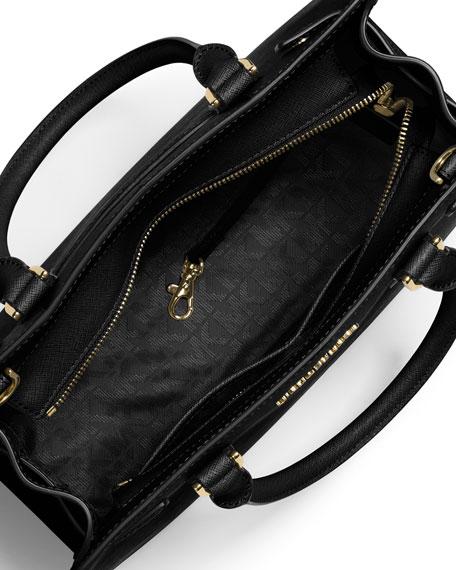 9e77a64ba2e2ab MICHAEL Michael Kors Dillon Saffiano Leather East-West Satchel Bag, Black
