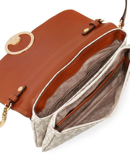 Fulton Flap-Front Crossbody Bag, Vanilla