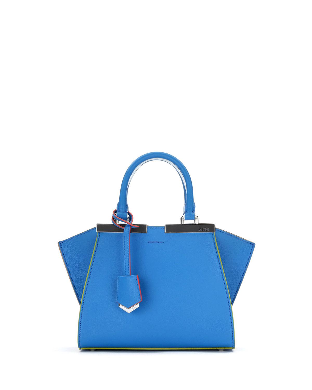 db76516f8aa Fendi 3Jours Mini Leather Tote Bag, Blue | Neiman Marcus