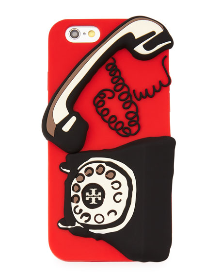 Telephone Silicone iPhone 6 Case, Vermillion