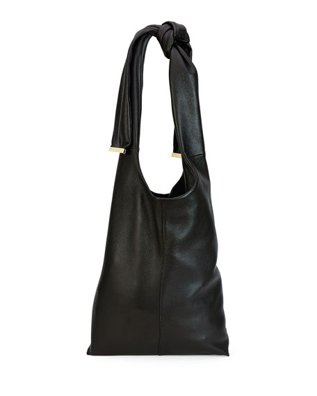 Marni Runway Tie Deerskin Hobo Bag, Chocolate
