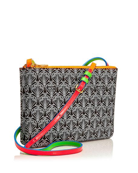 Bayley Duo Iphis Printed Canvas Shoulder Bag, Neon