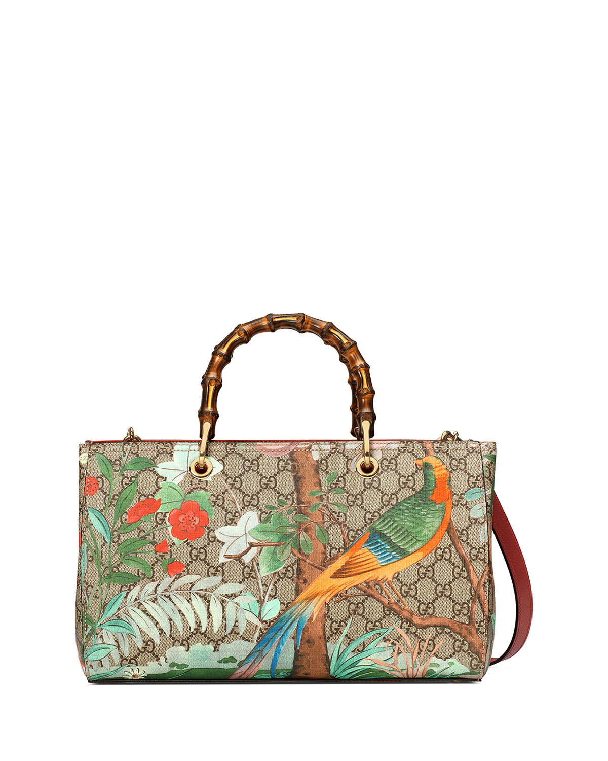 975032be319785 Gucci Tian Floral GG-Supreme Shopper Tote Bag, Multicolor | Neiman ...