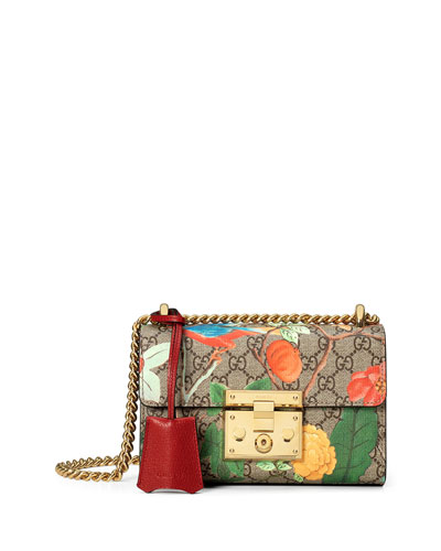 Tian Floral GG-Supreme Shoulder Bag, Multicolor