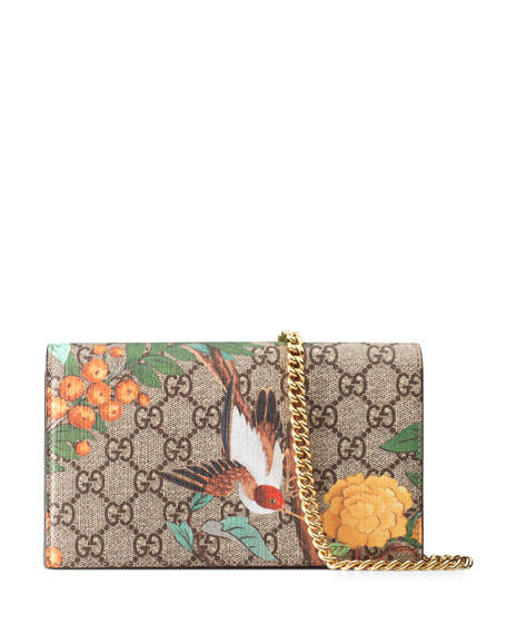 Gucci Mini Tian-Print GG Supreme Chain Bag, Multi