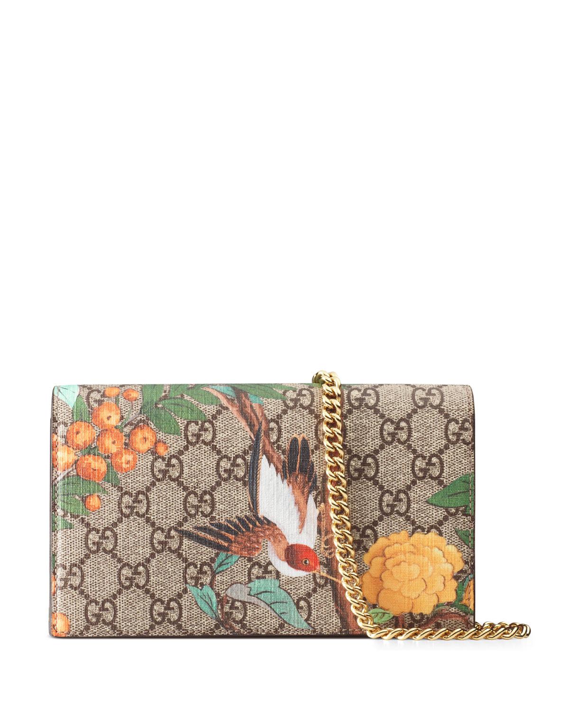 1e9a4fa2cd9 Gucci Mini Tian-Print GG Supreme Chain Bag