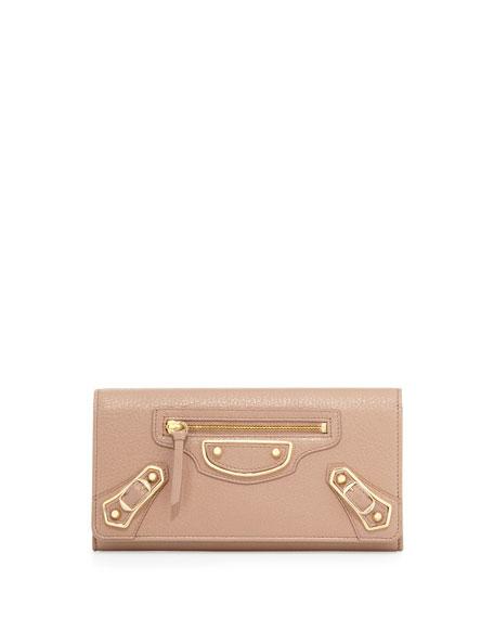 Edge Money Leather Wallet, Rose
