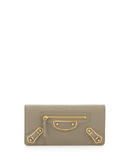Edge Money Leather Wallet, Gray