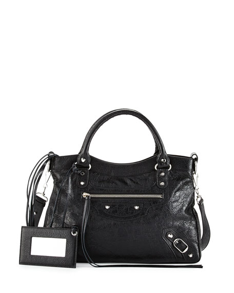 Balenciaga Classic Nickel Town Tote Bag, Black