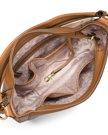 ... Julia Medium Leather Convertible Shoulder Bag, Acorn Michael kors Julia  Medium Leather Shoulder Bag in ... cdc49c2688