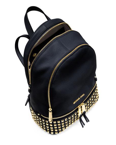 b0e05448791a ... ireland michael michael kors rhea small studded leather backpack navy  neiman marcus 8d072 dfc71