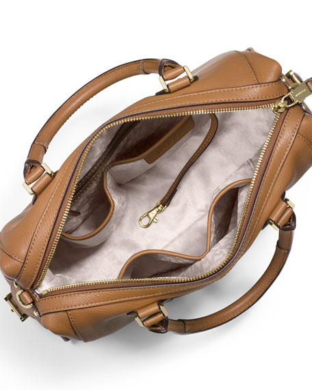 MICHAEL Michael Kors Julia Large Leather Satchel Bag, Acorn