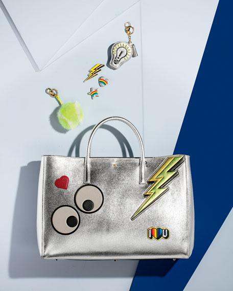 Lighting Bolt Sticker for Handbag, Gold