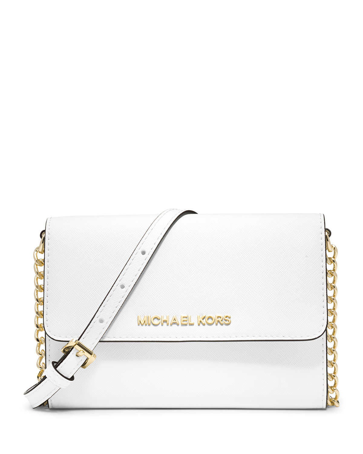 7b0c4a6a067082 MICHAEL Michael Kors Jet Set Travel Crossbody Phone Case/Wallet, Optic White