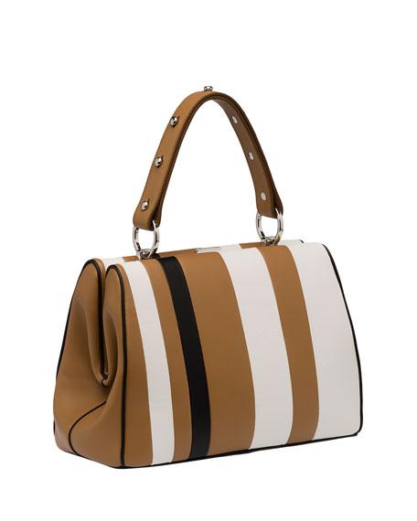 prada handbag white and black
