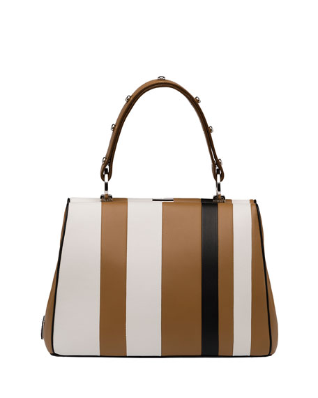 prada it bag - prada frame bag black + caramel
