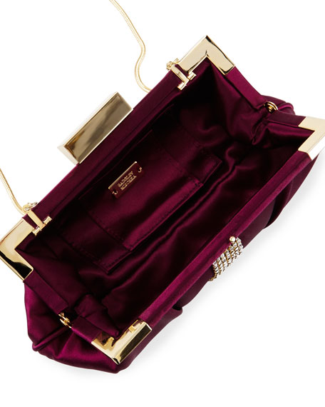 Aurore Embellished Evening Clutch Bag, Wine