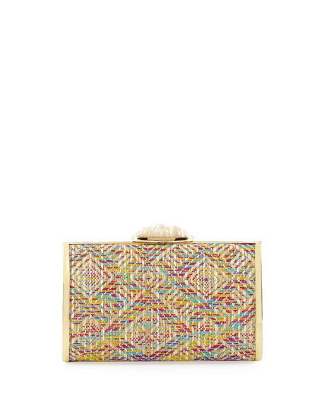 Melinda Geometric-Pattern Evening Clutch Bag, Multi Colors