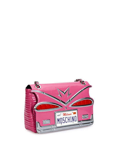 Tail Lights Quilted Shoulder Bag, Pink