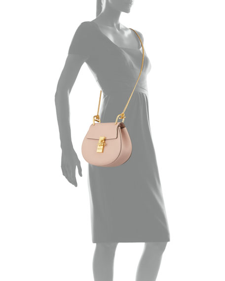 Chloe Drew Mini Lambskin Shoulder Bag, Cement Pink