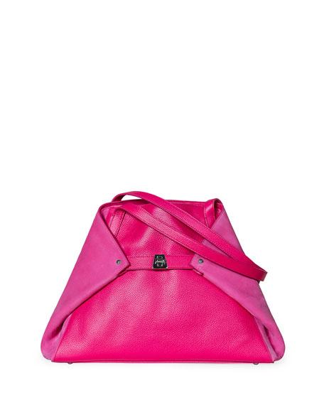 Akris Ai Small Shoulder Bag, Rose