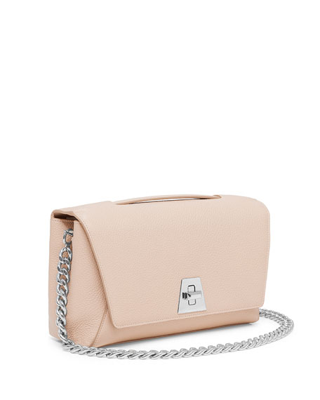 Leather Chain-Strap Flap Bag, Cordage