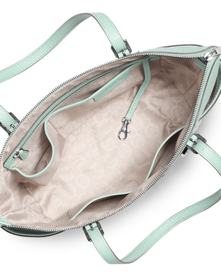 31927806e20fcc MICHAEL Michael Kors Jet Set Top-Zip Saffiano Tote Bag, Celadon