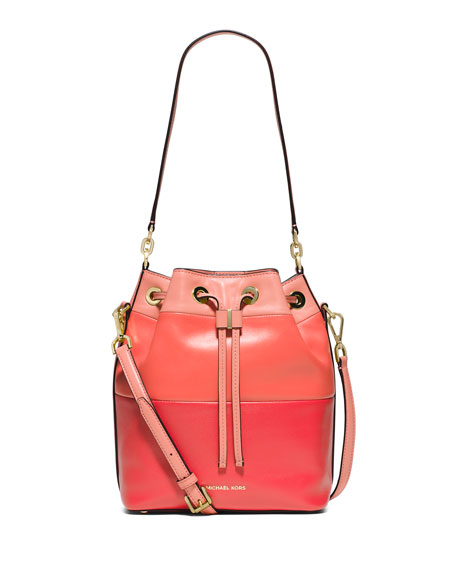 MICHAEL Michael Kors Dottie Degrade Leather Large Bucket