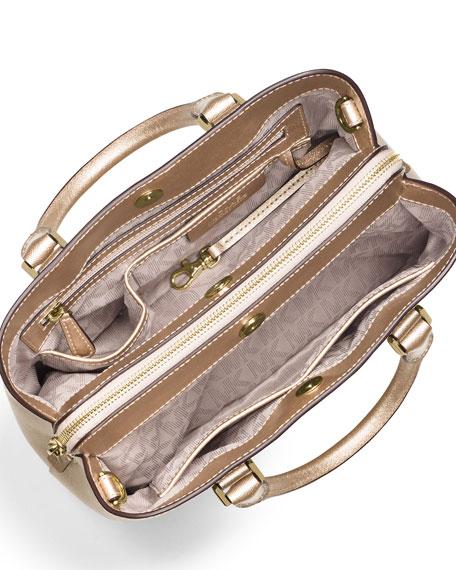 bra ut x söt billig en ny chans MICHAEL Michael Kors Savannah Medium Satchel Bag, Pale Gold