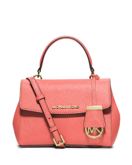 MICHAEL Michael Kors Ava Extra-Small Crossbody Bag, Pink Grapefruit