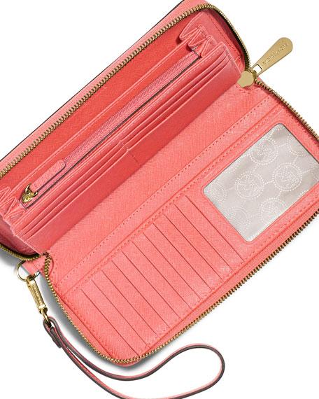 4be99083c838 MICHAEL Michael Kors Jet Set Travel Continental Wallet, Pink Grapefruit