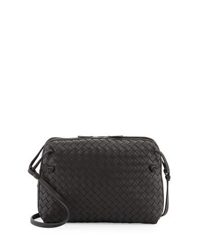Intrecciato Double-Compartment Bag, Nero Black