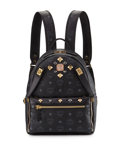 MCM Dual Stark Small Visetos Backpack w/ Pouch,