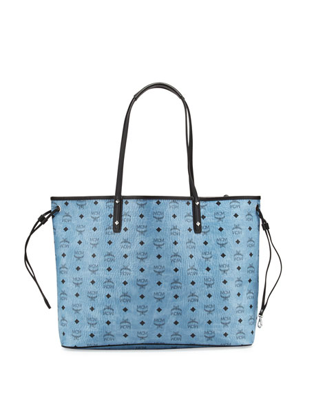 MCM Large Reversible Shopper Tote Bag, Denim