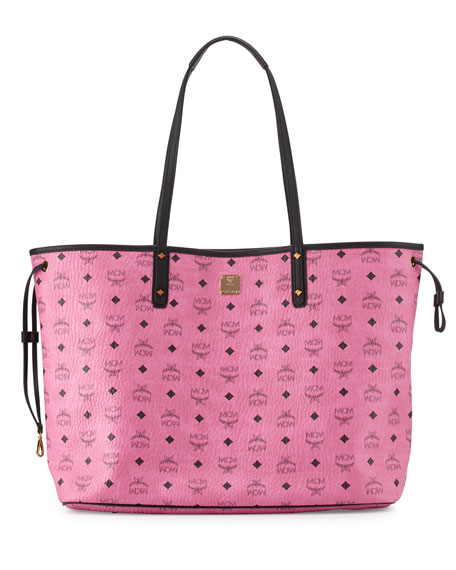 mcm large reversible shopper tote bag pink. Black Bedroom Furniture Sets. Home Design Ideas