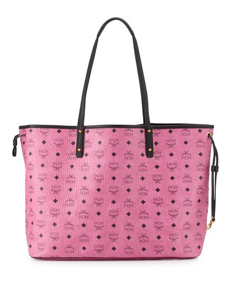 mcm large reversible shopper tote bag pink neiman marcus. Black Bedroom Furniture Sets. Home Design Ideas