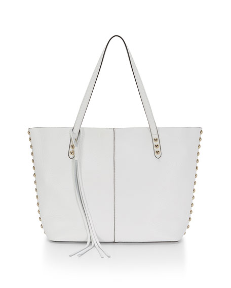 Rebecca Minkoff Pebbled Leather Unlined Tote Bag, White