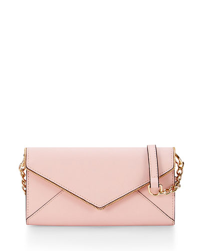 Cleo Wallet-on-a-Chain Bag, Baby Pink