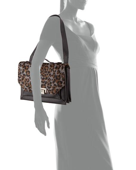 Eartha Envelope Courier Shoulder Bag, Charcoal