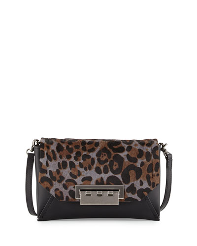 Eartha Envelope Crossbody Bag, Charcoal