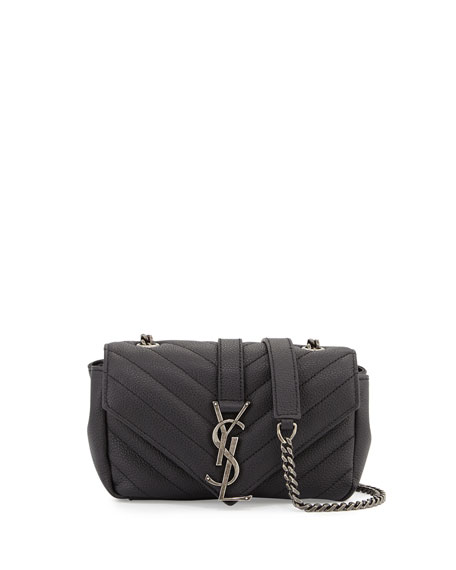 Saint Laurent Monogram Baby Chain Crossbody Bag, Black