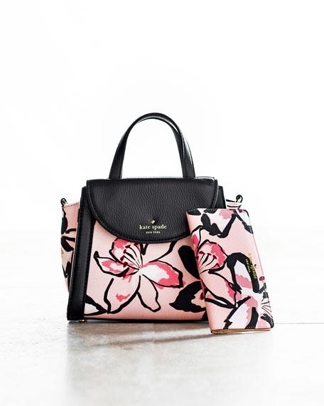 cobble hill adrien small floral satchel bag, antilles bubbles