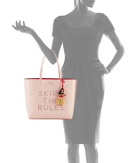 skirt the rules hallie tote bag, urchin pink