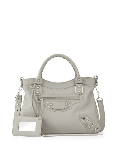 Balenciaga Edge Town Leather Tote Bag, Dark Gray