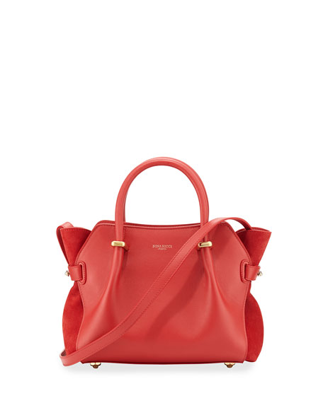 Nina Ricci Marche Extra-Small Leather Satchel Bag, Rouge Red