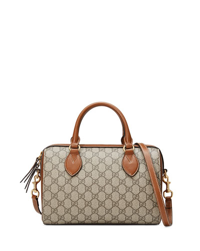 Gucci GG Supreme Top-Handle Bag, Beige