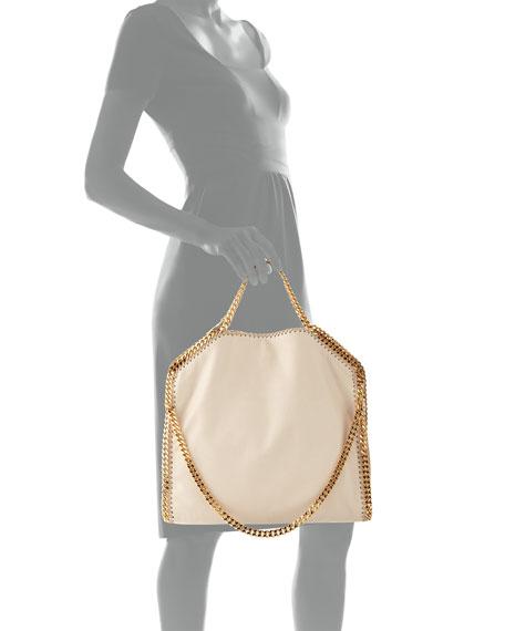 Falabella Fold-Over Tote Bag, Nude