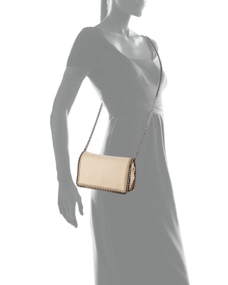 Falabella Crossbody Clutch Bag, Nude