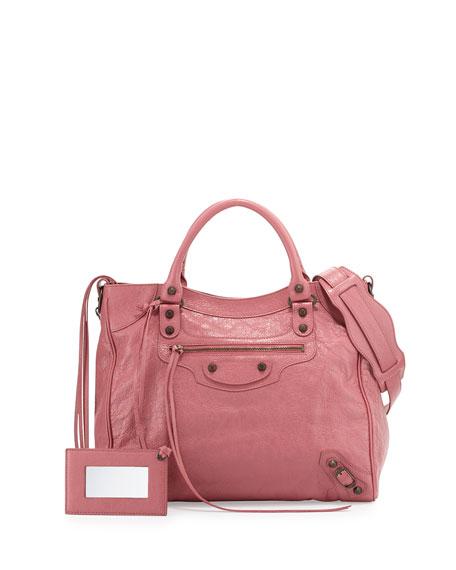 Chloe Jane Tassel-Trim Leather Crossbody Bag, Caramel